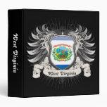 West Virginia Crest Vinyl Binders