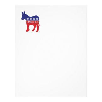 West Virginia Democrat Donkey Letterhead Template