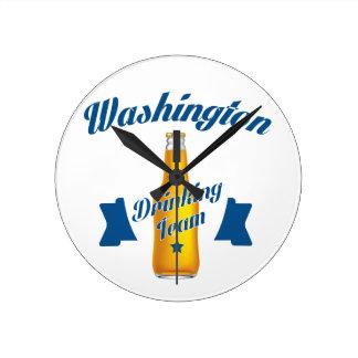 West Virginia Drinking team Round Clock