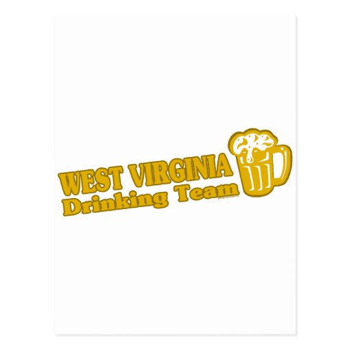 West Virginia Drinking Team t shirts Postcards