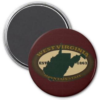 West Virginia Est. 1863 3 Inch Round Magnet