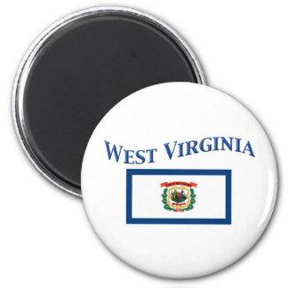 West Virginia Flag 2 Inch Round Magnet