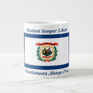 West Virginia Flag and Motto 20 oz Mug