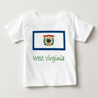West Virginia Flag And Name T Shirts