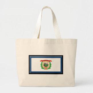 West Virginia Flag Jumbo Tote Bag
