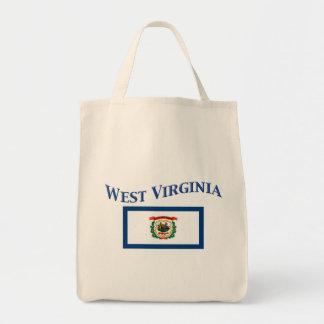 West Virginia Flag Grocery Tote Bag