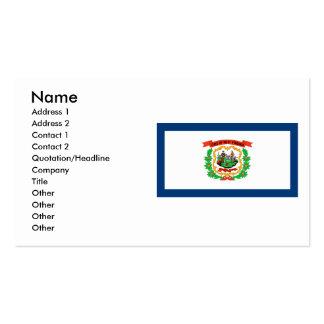 West Virginia Flag Business Cards