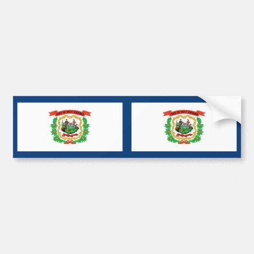 West Virginia Flag Car Bumper Sticker