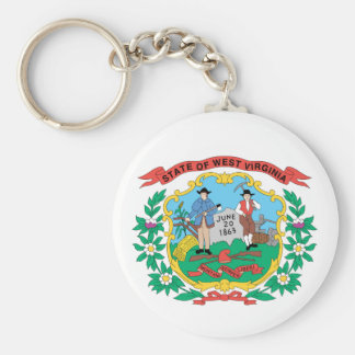WEST VIRGINIA Flag Design - Keychain