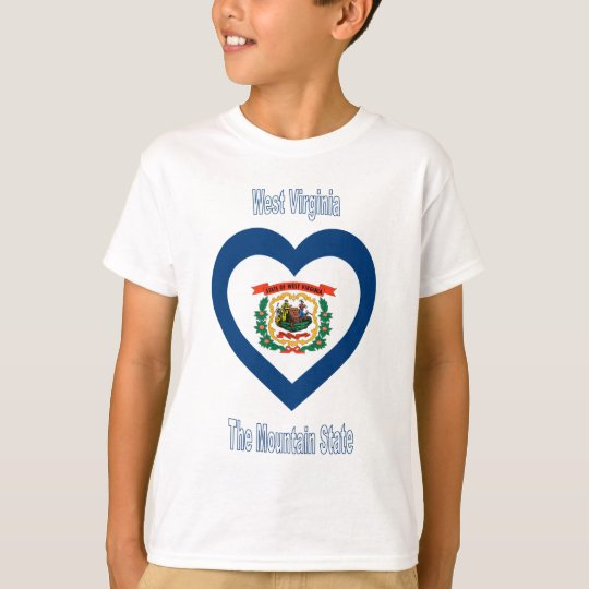 West Virginia Flag Heart T-Shirt