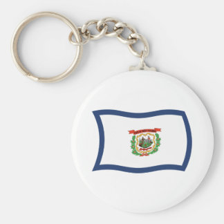 West Virginia Flag Keychain