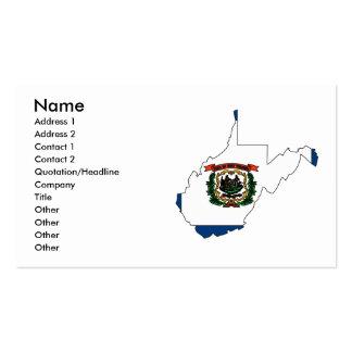 West Virginia Flag Map Business Card Template