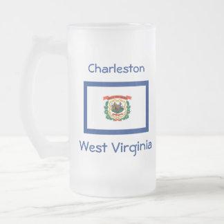 West Virginia Flag Map City Mug