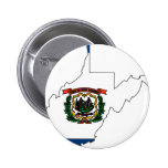West Virginia Flag Map Pins