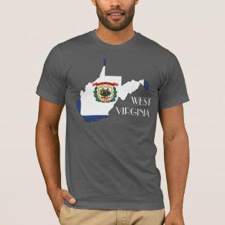 West Virginia Flag-Map Shirt