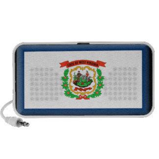 West Virginia Flag Notebook Speakers