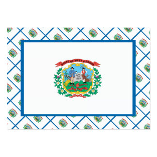 WEST VIRGINIA Flag Pattern Business Card Templates