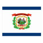 West Virginia Flag Post Card