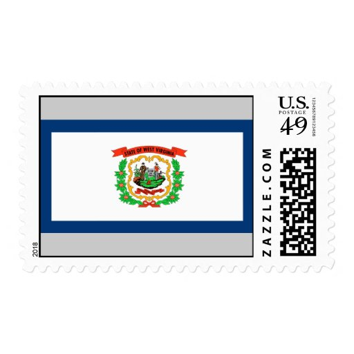 West Virginia Flag Postage Stamp