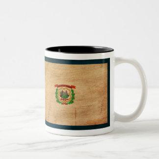 West Virginia Flag Two-Tone Coffee Mug