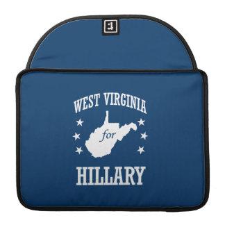 WEST VIRGINIA FOR HILLARY MacBook PRO SLEEVE