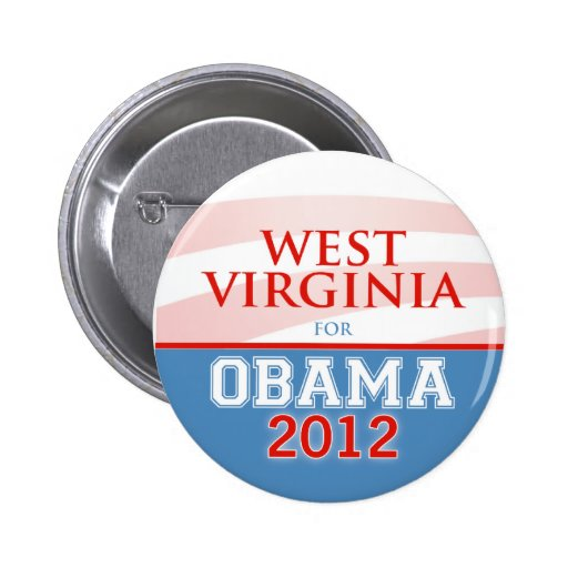 WEST VIRGINIA for Obama 2012 Pin