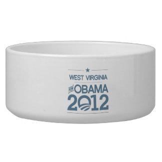 WEST VIRGINIA FOR OBAMA 2012.png Pet Food Bowls