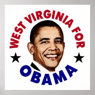 West Virginia For Obama Poster