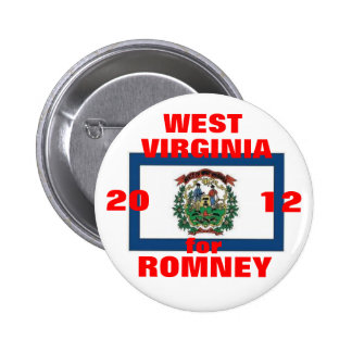 West Virginia for Romney 2012 Pinback Button