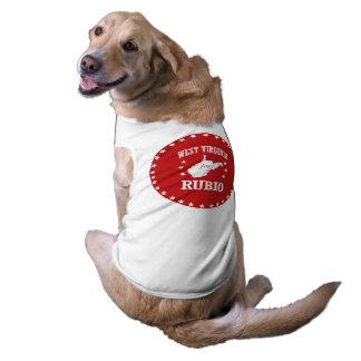 WEST VIRGINIA FOR RUBIO DOG T-SHIRT