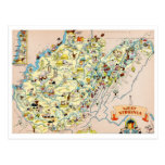 West Virginia Funny Map Post Cards
