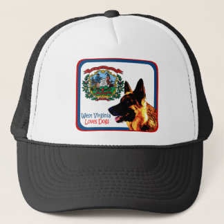 West Virginia German Shepherd Trucker Hat