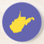 West Virginia Gold and Blue Drink Coasters