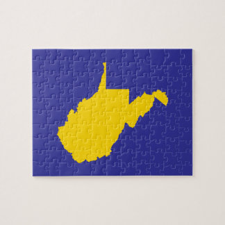 West Virginia Gold and Blue Jigsaw Puzzle