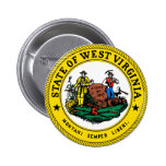 West Virginia Great Seal 2 Inch Round Button