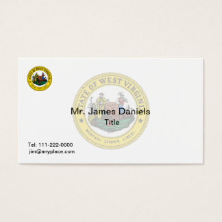 West Virginia Great Seal Business Card