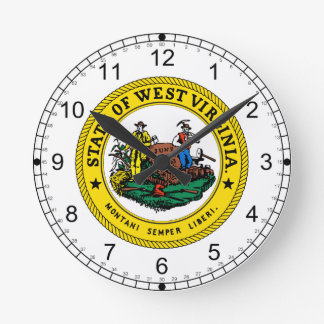 West Virginia Great Seal Round Clock