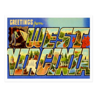 West Virginia Greetings From US States Postcard