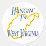 West Virginia - Hangin' Classic Round Sticker