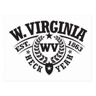 West Virginia, Heck Yeah, Est. 1863 Postcard
