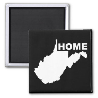 West Virginia Home Away From State Fridge Magnet