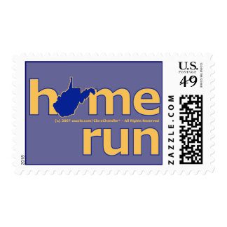 West Virginia Home Run Outlined Postage