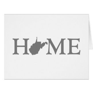 West Virginia Home State Large Greeting Card