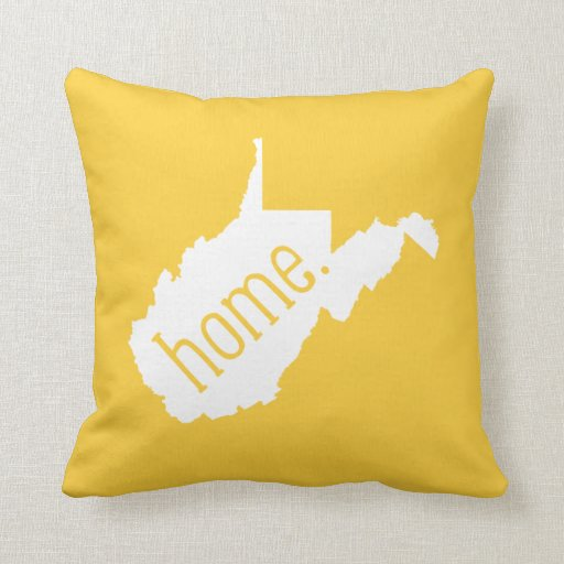West Virginia Home State Throw Pillow Zazzle