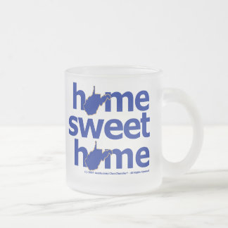 West Virginia Home Sweet Home Frosted Glass Coffee Mug
