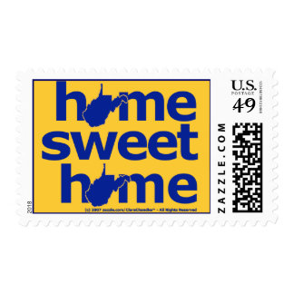 West Virginia Home Sweet Home Postage Stamp
