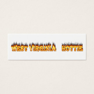 West Virginia Hottie fire and flames Mini Business Card