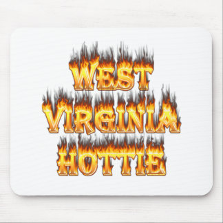 West Virginia Hottie fire and flames Mouse Pad