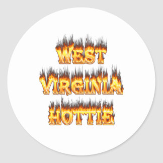 West Virginia Hottie fire and flames Sticker