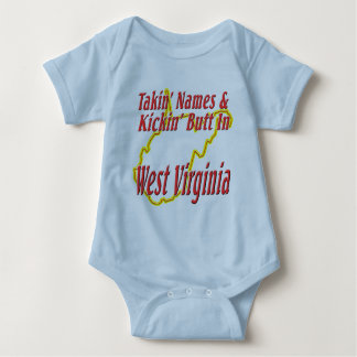 West Virginia - Kickin' Butt Baby Bodysuit